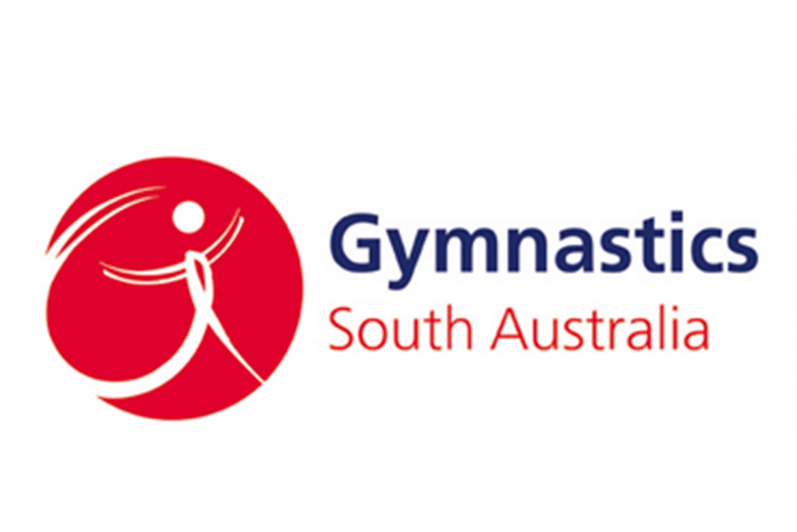 Gymnastics South Australia logo on a white background