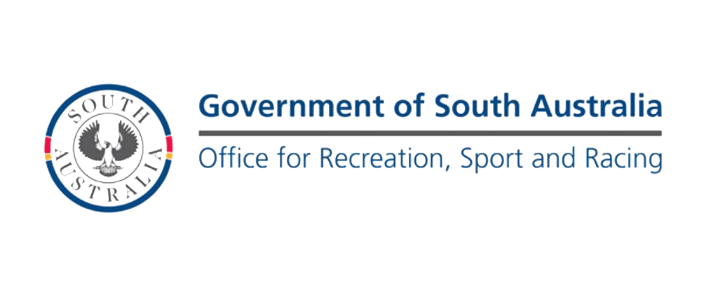 Government of South Australian Office for Recreation, Sport and Racing logo.