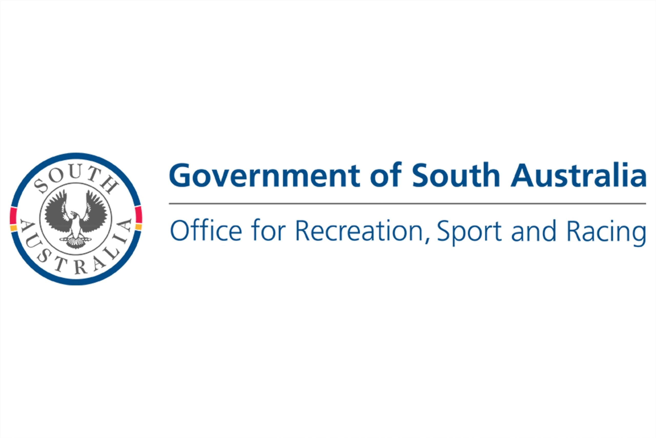 Government of South Australia Office for Recreation Sport and Racing logo on a white background