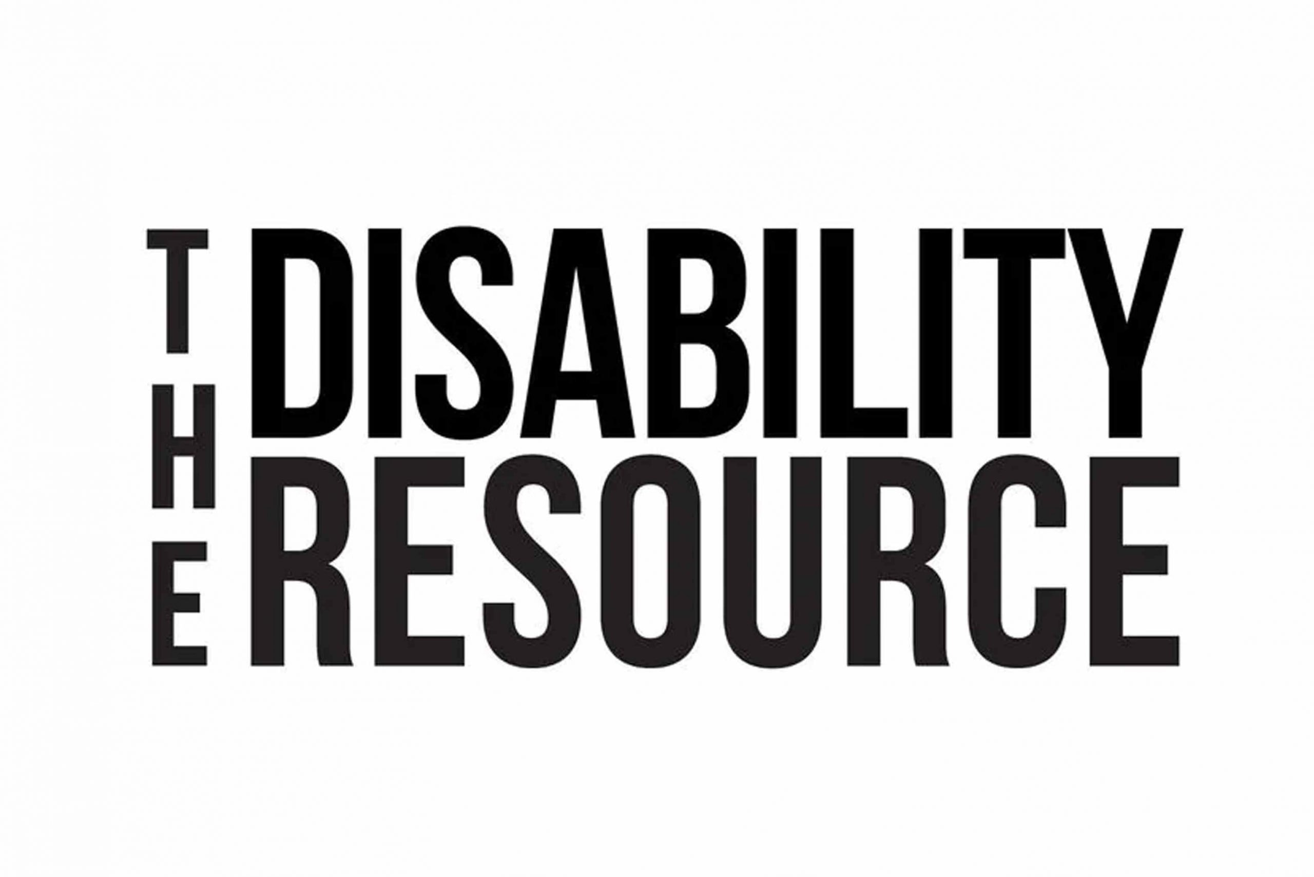 White background. Black text reads The Disability Resource